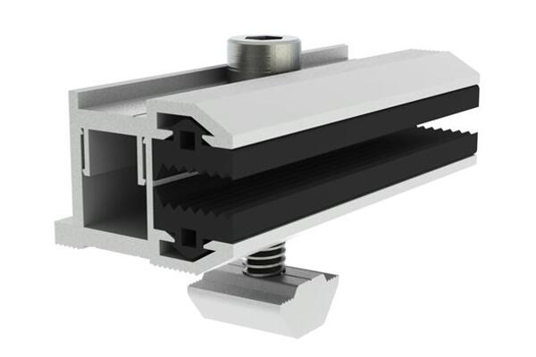 Adjustable End Clamp| Thin Film Panel Fittings|Solar Mount|Honunity Technology