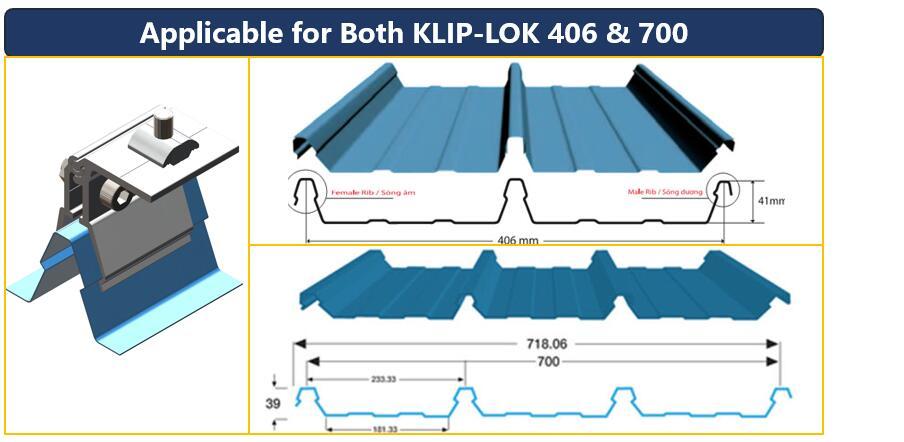 Roof Profile|Klip Lok406}Klip Lok700|Australian Solar Roof|Honunity