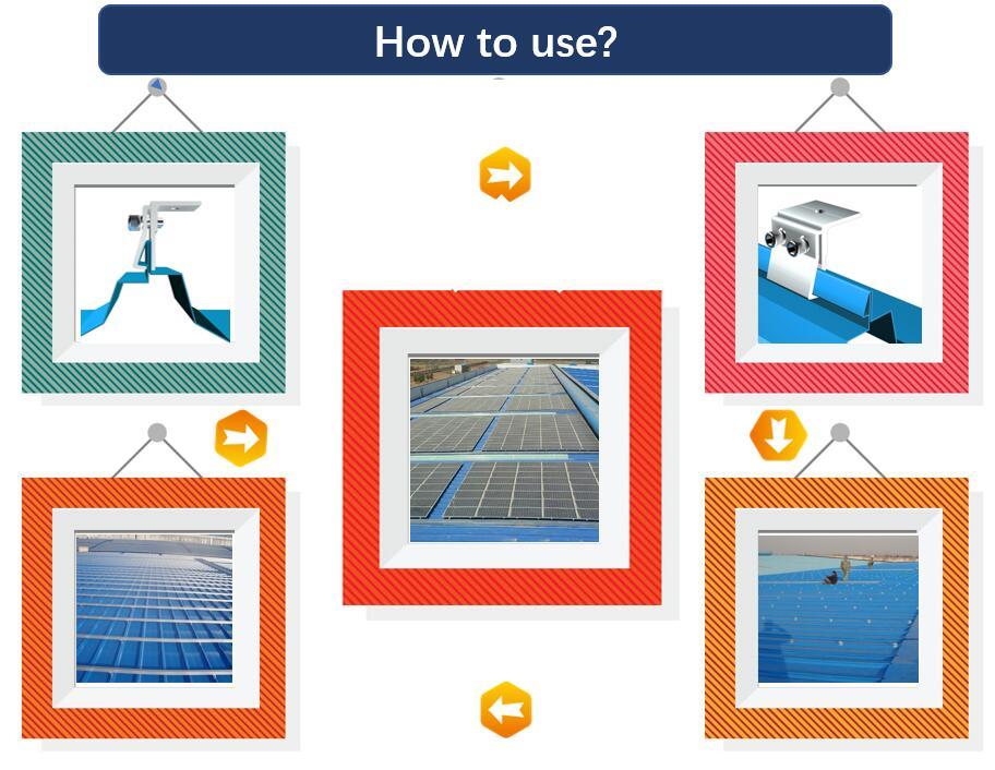 Installation Guide|Steanding Seam Hook|Solar Panel Fitting|Honunity