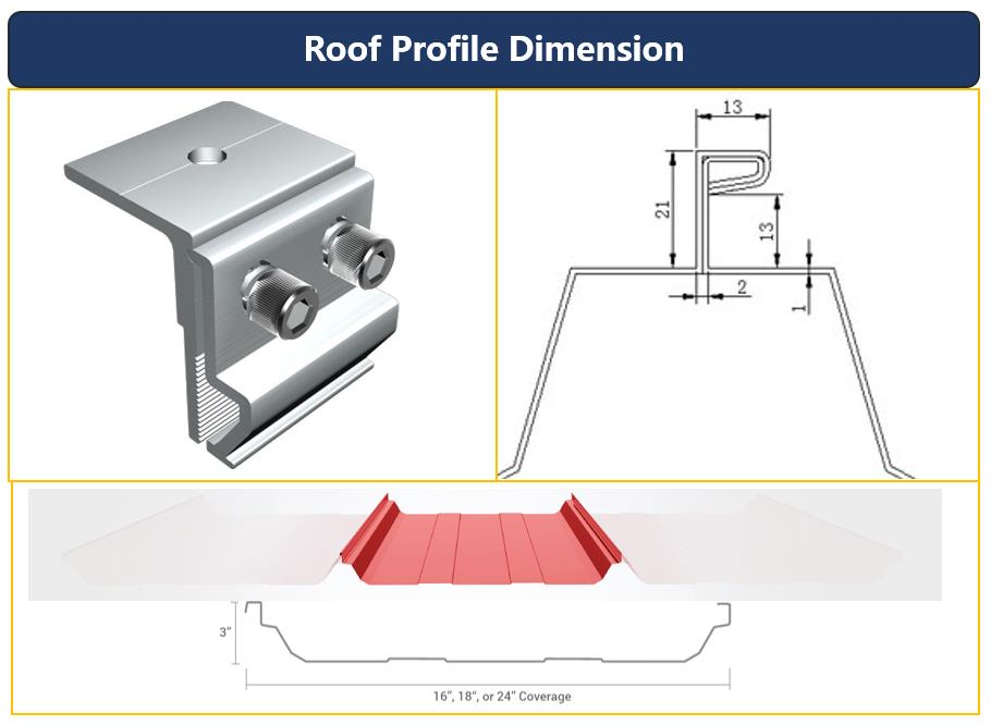 Roof Dimension|Hook Size|Solar Mounting System|Honunity