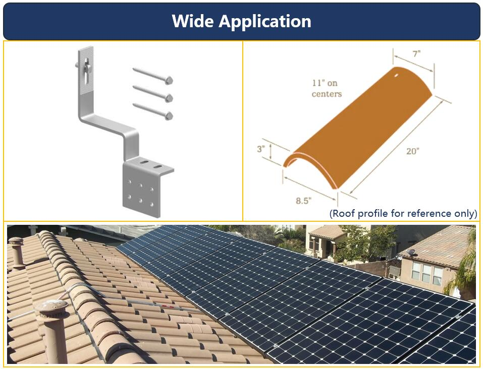 Description|Tile Roof Hook| Solar Home System|Wooden Purlin|Honunity Technology