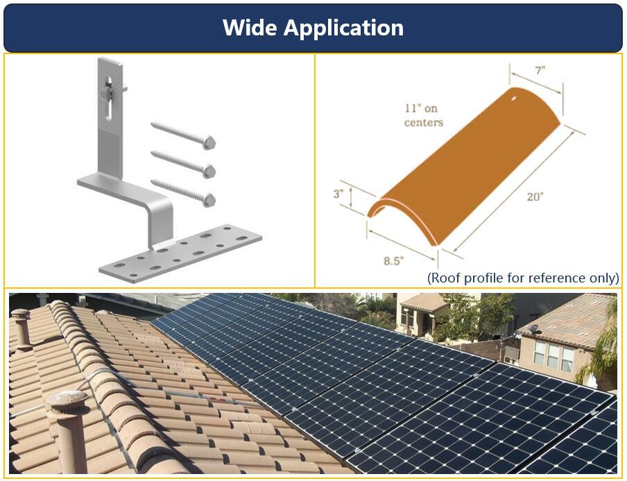 Description|Tile Roof Hook| Solar Home System|Wooden Beam|Honunity Technology