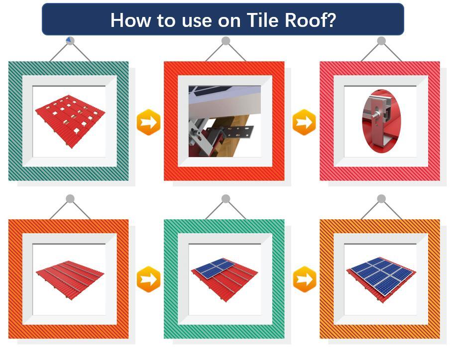 Installation Guide|Standard Tile Hook|Solar Roof|Stainless Hook|Roof Mount|Honunity