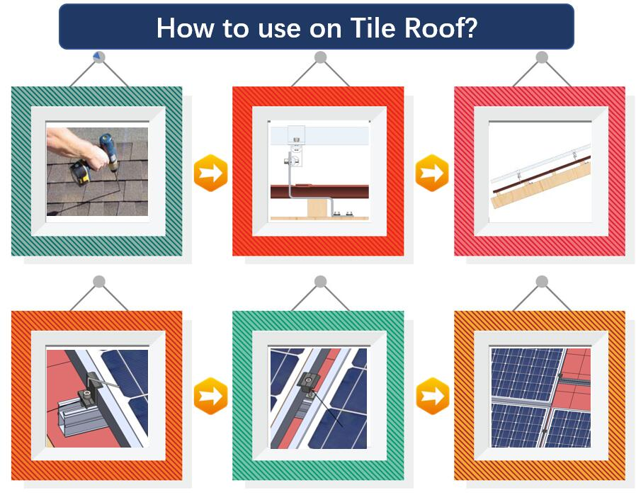 Installation Guide|Slate Roof Hook|Solar Tile Roof|Stainless Hook|Roof Mount|Honunity.