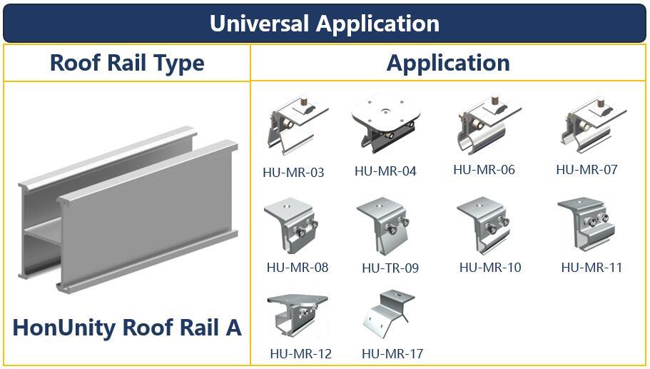 Rail Application  Solar Rail A  Extruded Aluminum Rail Universal Use Honunity.jpg