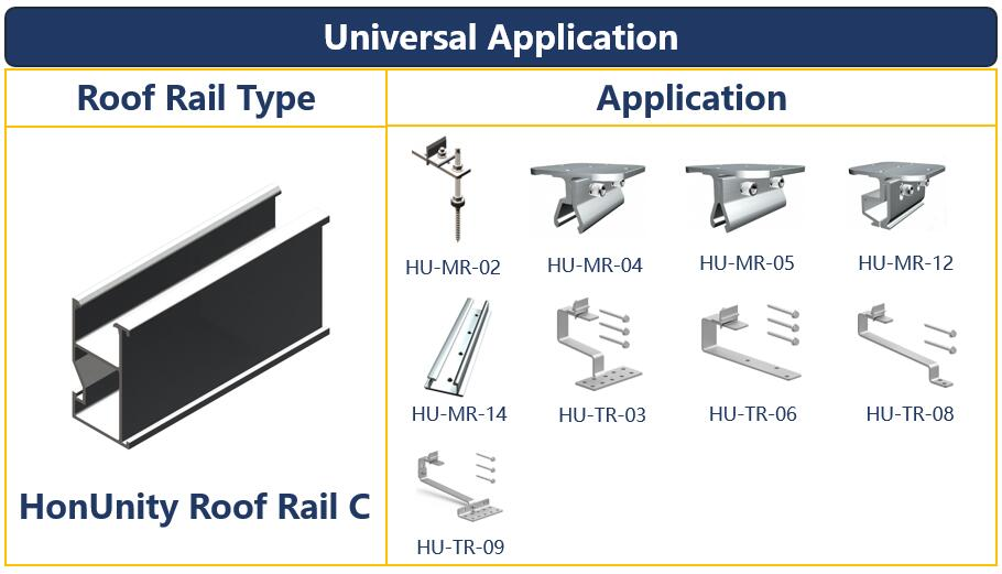 Roof Mount| Extruded Rail|Solar Rail| Mounting System|Honunity.jpg