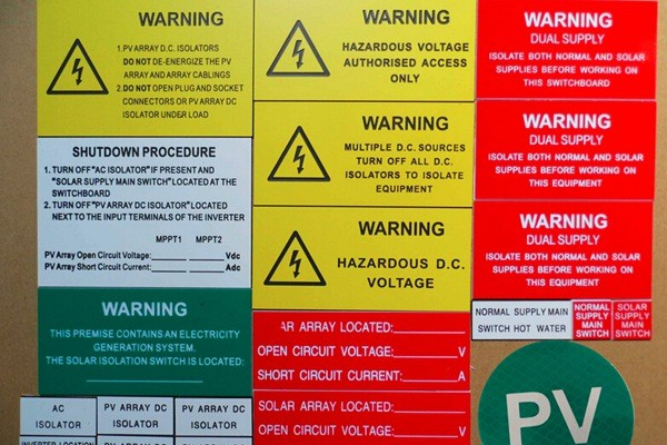 Solar Label|ABS Labeling System|Solar Warning Label|Honunity Technology