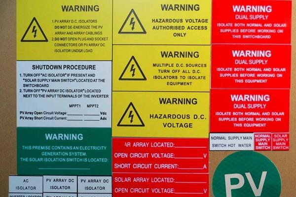 Solar Label|ABS Labeling System|Solar Warning Label|Honunity Technology
