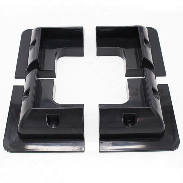 White Color Plastic Solar Panel Corner Mounting System Kit Honunity Technology