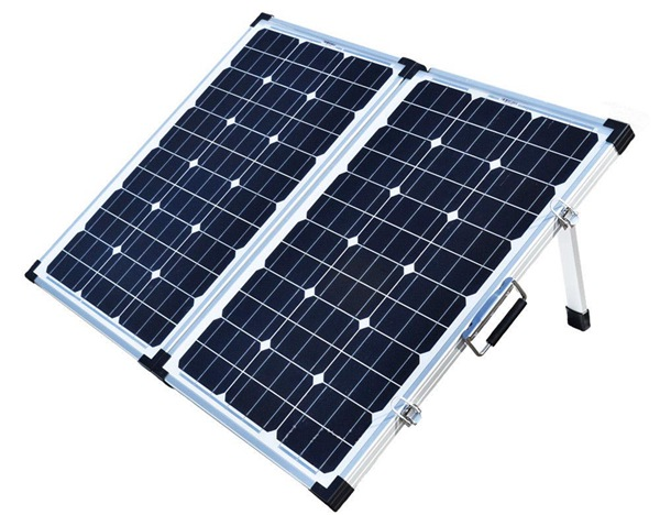 Side View_Two Panels Kit_Foldable solar Panel_Portable Solar_Solar Power System_Honunity Technology2