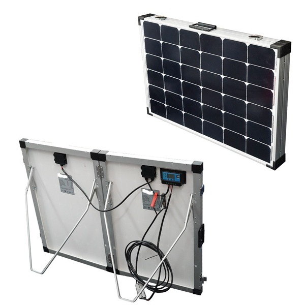 Two Panels Kit_Back View_Foldable solar Panel_Portable Solar_Solar Power System_Honunity Technology