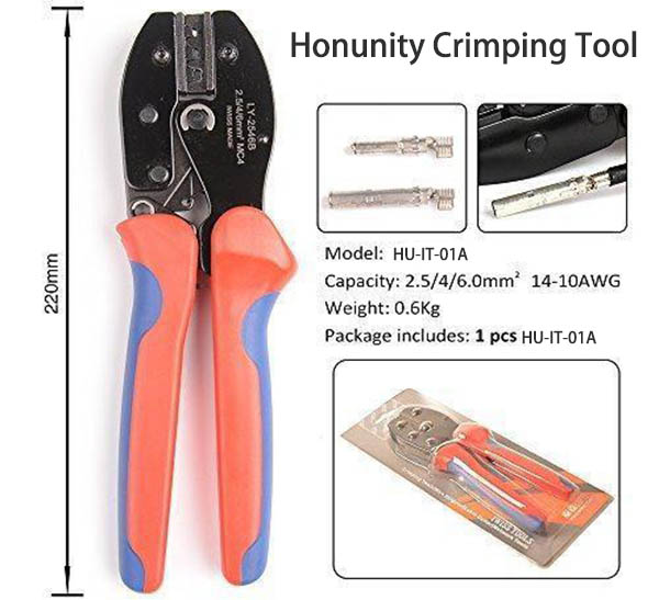 Size Description_Crimping Tool_Installation Tool_Portable Steel Pin Crimping_Honunity Technnology