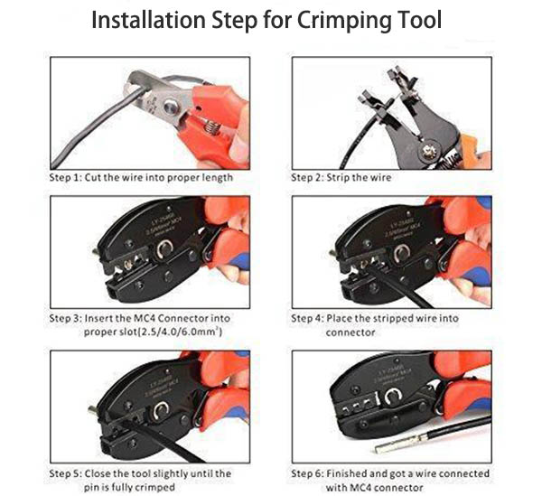 Installation Step_Crimping Tool_Installation Tool_Portable Steel Pin Crimping_Honunity Technnology
