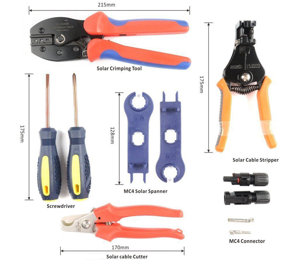 Components List_Solar Installation Kit_Spanner_Stripper_Cutter_Honunity Technology