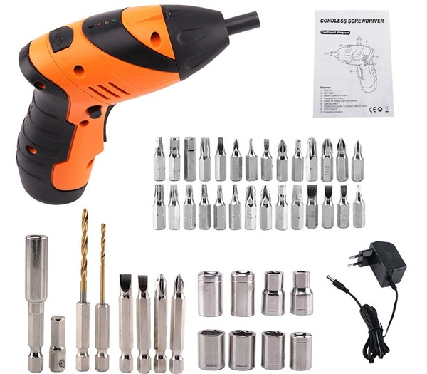 Components List_Cordless Electric Screwdriver_Hand Tool_Solar Panel Installation_China Made_Honunity Technology1