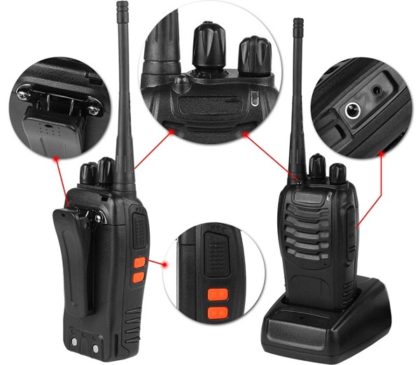 Description_Walkie Talkie_Two Way Radio_Interphon_Transceive_Solar Installation_Honunity Technology