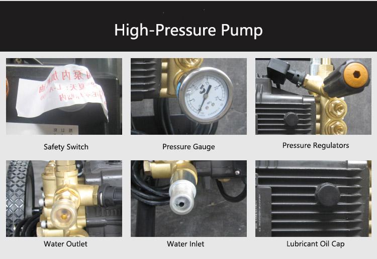 Details Description_High Pressure Pump_Solar Cleaning equipment_Solar Brush Kit_Honunity Technology
